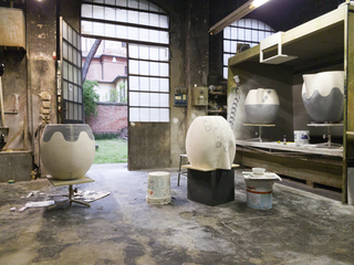 Emma Hart a Viafarini, Work in progress, Museo Carlo Zauli, Faenza Foto di Emma Hart