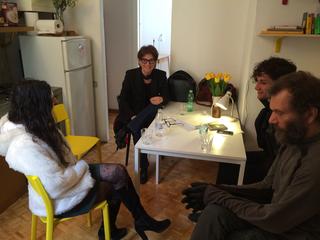 People | Family, Simone Frangi e Mihovil Markulin con Elena Dal Pra a sistemare le residenze di VIR, 2016