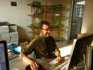 People | Family, Giulio Verago nell'ufficio alla Fabbrica del Vapore, 2010