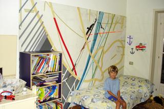 Nic Hess, The doors and a Window (Are We All American?), Nic Hess nellacollezione di Patrizia Brusarosco, con il figlio Roberto.