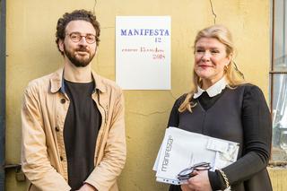 Studio Visit Italia per Manifesta12 Palermo, Hedwig Fijen, direttrice Manifesta e il curatore Ippolito Pestellini Laparelli. Courtesy Manifesta12 e Guido Rizzuti