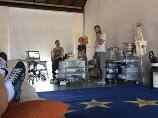 La storia dell'Archivio - 1, Giulio Verago, Giulia Brivio e Mihovil Markulin.