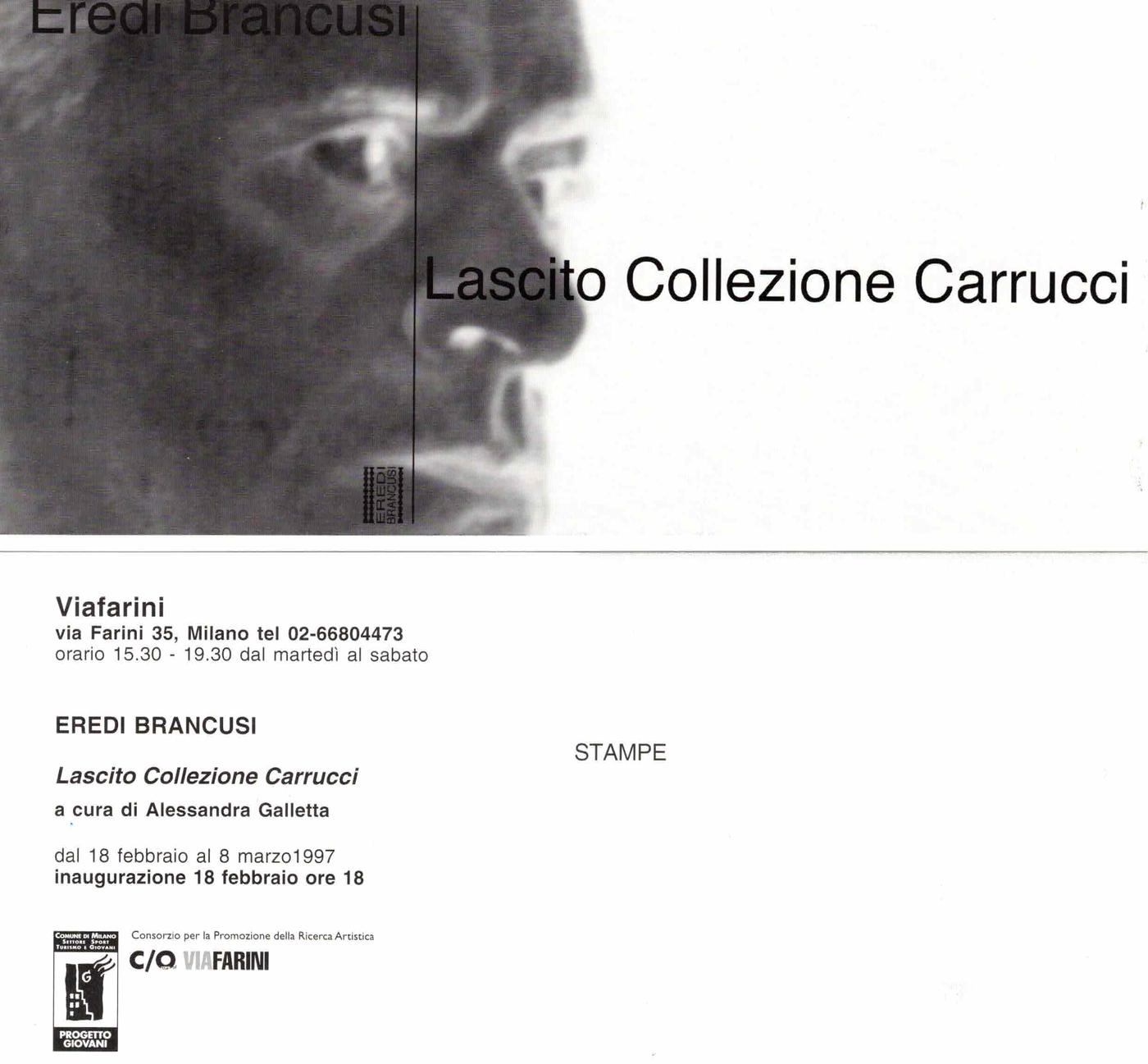 Eredi Brancusi, Lascito Collezione Carrucci