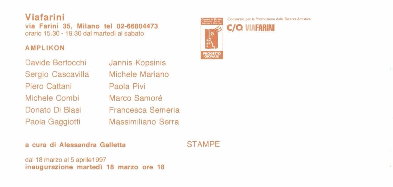 D. Bertocchi, S. Cascavilla, P. Cattani, M. Combi, D. Di Blasi, P. Gaggiotti, J. Kopsinis, M. Mariano, P. Pivi, M. Samorè, F. Semeria, M. Serra, Amplikon