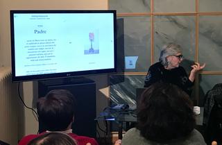 La pittura è oro - Tre occasioni per parlare di pittura in Italia, Maria Morganti, co-curatrice del progetto, durante una presentazione a Casa Testori nel 2020