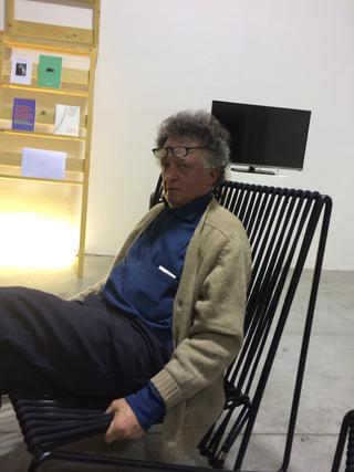People | Family, Mario Gorni durante il gran consiglio con Paolo Bergmann per definire il futuro dell'Archivio alla Fabbrica del Vapore, 2016
