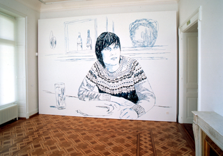 Paradossi dell'amicizia - io & te, Claudia & Julia Müller,Nord, Süd, pittura murale, Kunstmuseum Thun, 2004