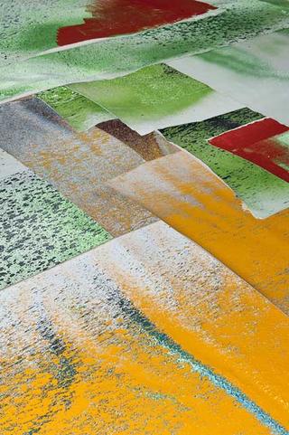 VIR Viafarini-in-residence, Open Studio, Giallo Concialdi, Cara cassano, 2013 (dettaglio) pittura segnaletica orizzontale su tela dimensioni variabili Foto di Davide Tremolada