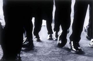 Quiet Collision: Pratica corrente - Stile australiano, Charles Anderson, Damiano Bertoli, Marco Fusinato, Simone LeAmon, Elizabeth Pulie e Michael Zavros, Michael Zavros, olio su tavola.