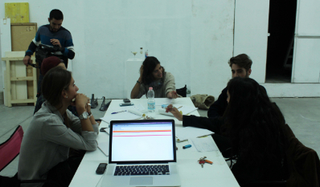 """VIR Viafarini-in-residence, Open Studio """"Ragazze"""", Robero Fassone, sibiNVIAFARINI. A workshop of 3 months, testing sibi, took place in Viafarini, non profit organization for contemporary art founded in 1991 in Milan. 12 groups of players played the game, brainstorming ideas"""