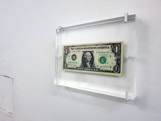 """VIR Viafarini-in-residence, Open Studio """"Ragazze"""", Carloalberto Treccani American Dream banconota modificata"""