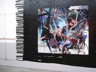 Re-Enacted Painting, Manuele Cerutti Pigfuckers Couch, 2005 olio su lino 80 x 200 cm