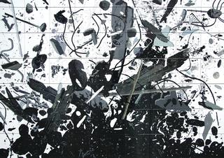 Re-Enacted Painting, Atrium Project Pulsante Errato, 2005 22 elementi in ceramica dipinta a mano 10 x10 cm cuascuno