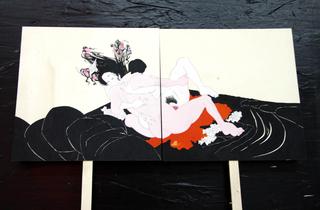 Re-Enacted Painting, Rossana Buremi Baci al plurale, 2006 pongo 25 x 25 x 4,5 cm