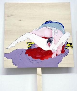 Re-Enacted Painting, Rossana Buremi Ritratto inedito, 2006 pongo 25 x 25 x 4,5 cm