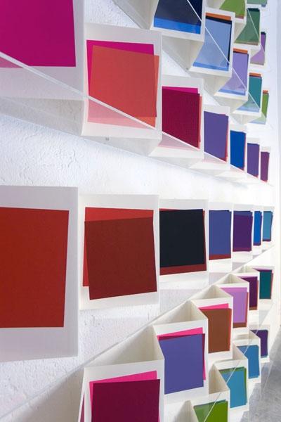 """Re-Enacted Painting, Workshop """"Che cos'è la pittura?"""" e progetto espositivo """"I Leporelli"""" di Maria Morganti., Veduta dell'installazione"""