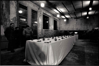 Hossein Golba, Scolpire il Tempo - omaggio ad Andreij Tarkovskij, Scolpire il Tempo, veduta dell'installazione, foto di Davide Bonasia