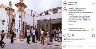 Studio Visit Italia per Manifesta12 Palermo, Comunicazione social del bando.