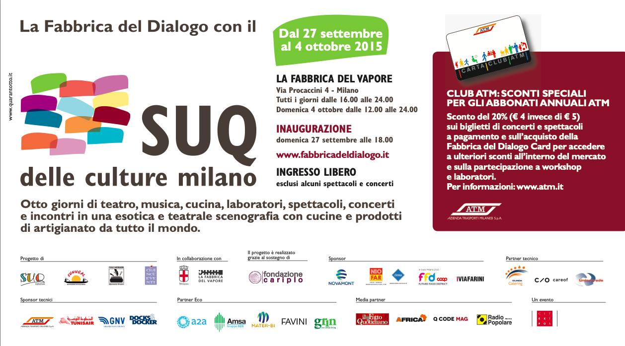 Intercultura - Capitolo 5 Attività attività attività, La Fabbrica del dialogo con il SUQ delle Culture