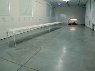 Thin Line, Veduta dell'installazione: Giovanni De Lazzari, Fabio Palmieri, Paolo Piscitelli.