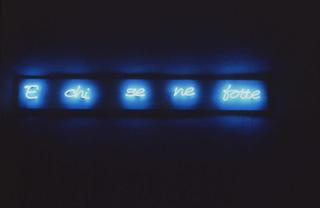 Transatlantico, Paola Pivi E Chi se ne fotte, 1995 neon