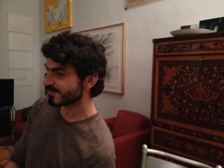People | Family, Tommaso Sacchi durante una cena a casa di Patrizia Brusarosco, 2015