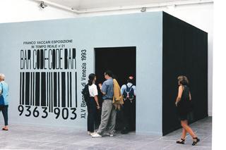 Franco Vaccari, Fuori Schema, 1966 - 2001 film, videoinstallazioni, esposizioni in tempo reale, web, Franco Vaccari, esposizione in tempo reale n.21, Bar Code - Code Bar, XLV Biennale di Venezia, 1993