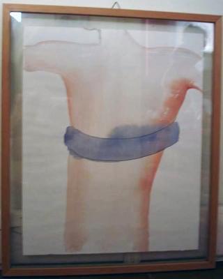 La voce interna, Asta Gröting. Con Pietro Ghislandi, ventriloquo, Asta Groting Der eiseme ring des Heinvich, 1997 acquarello su carta 30 × 24 cm Opera lasciata a Viafarini