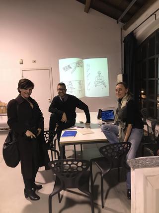 People | Family, Giulio Verago e Katia Noppes durante una presentazione all'Archivio DOCVA, 2018