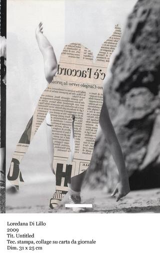 Il raccolto d'autunno è stato abbondante, Loredana Di Lillo Untitled, 2009 stampa collage su carta da giornale 31 x 25 cm