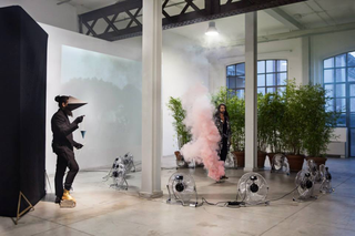 ArTransit | Performance Labour 1, Domenico Billari I don't have a title for the practice of heavy and light spatial views, 2014 Foto di Nicolò Burgassi
