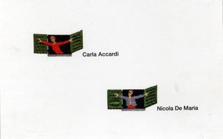 Carla Accardi, Nicola De Maria, Finestre, Fronte dell'invito cartolina