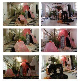 Anna Galtarossa, Kamchatka, Kamchatka, 2005, materiali vari, dimensioni ambientali. Vedute dell'allestimento. Foto di Zeno Zotti.