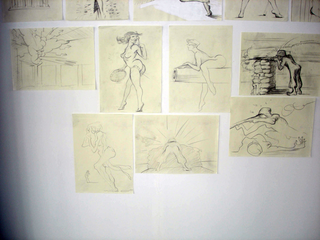 Alexej Koschkarow, Checkpoint Charlie, Checkpoint Charly (after Carribean Crises), 2009 Calendar Sheets, drawings