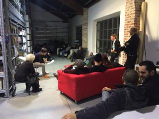 La storia dell'Archivio - 1, ari Miele durante un incontro all'Archivio, 2016