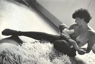 People | Family, Patrizia Brusarosco e Roberto Infurna ritratti da Shoba sull'opera di Rosemarie Trockel, 1999