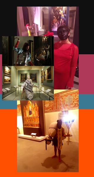 Canedicoda, Spazieren gehen - Find your niche, Collaborazione con Luigi Presicce per i costumi della performanceIl fazzoletto della vera icona,MAP Museo de Arte Popular, Ciudad de Mexico