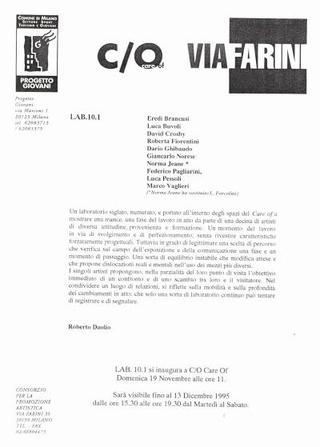 Comunicato LAB.10.1, a cura di Roberto Daolio
