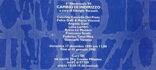 Invito Cambio d'indirizzo, a cura di Giorgio Verzotti