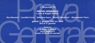 Invito Prova Generale, a cura di Angela Vettese