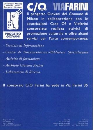 La locandina dei servizi con Careof e il Comune di Milano