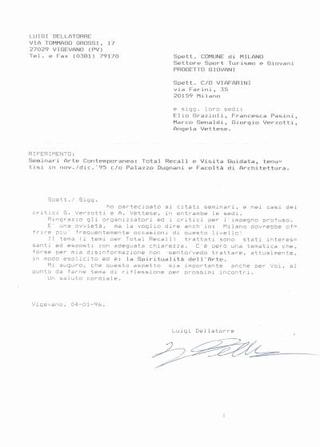 Lettera di Luigi della Torre