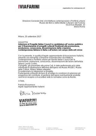 Il dossier di candidatura con tutta la documentazione richiesta dal bando Italian Council.