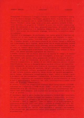 P/Crime Scene, il testo di Alberto Zanazzo