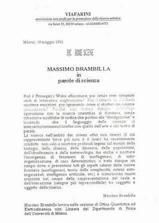P/Crime Scene, Massimo Brambilla