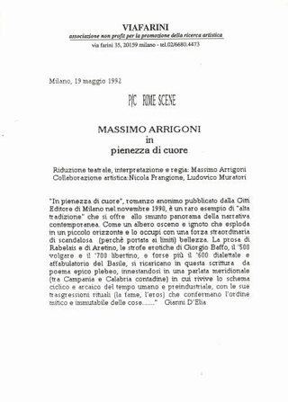 P/Crime scene, Massimo Arrigoni