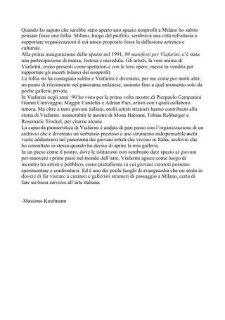Testo di Massimo Kaufmann in italiano