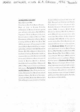 Il CV di Galasso nel 1996