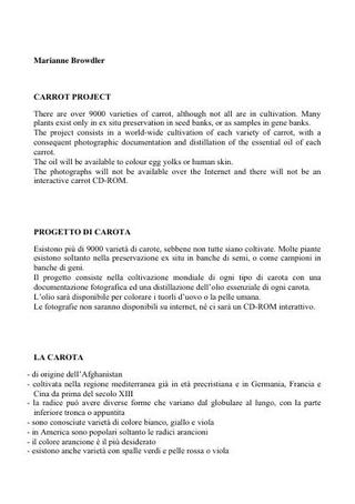 Progetti (1997)