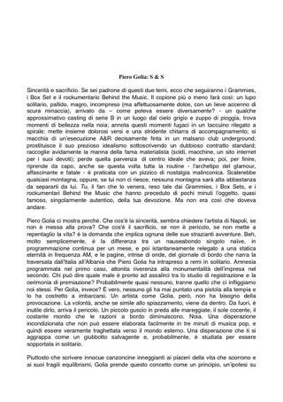 Testo di Barbara Casavecchia.